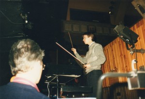 Conducting(!) the LPO at Glyndebourne in '88